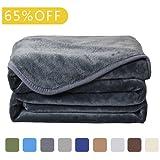 Amazon Price History for:Balichun Luxury 330 GSM Fleece Blanket Super Soft Warm Fuzzy Lightweight Bed or Couch Blanket Twin/Queen/King Size(King,Dark Grey)