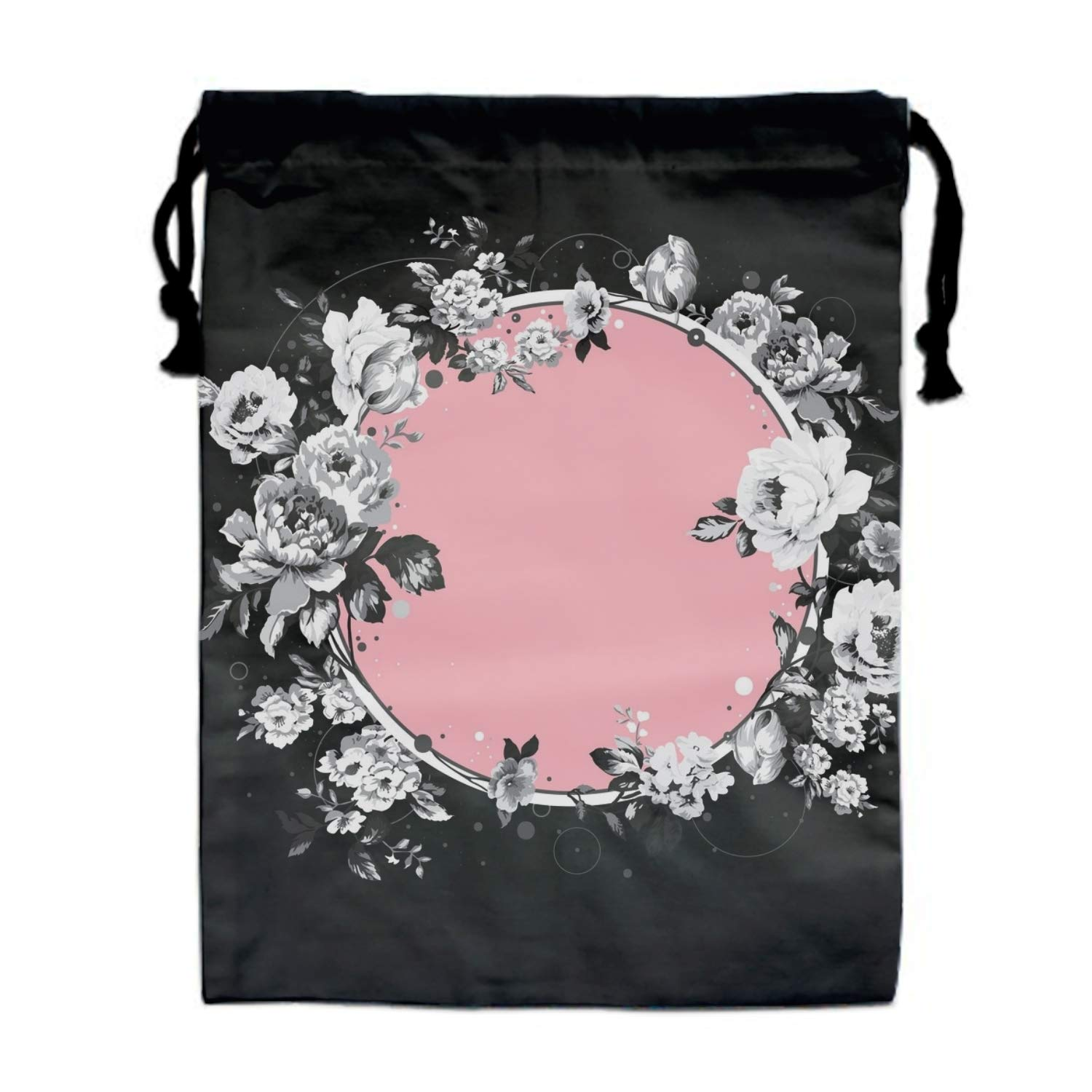 Circle Flower Drawstring Pouches Candy Jewelry Party Wedding Favor Present Bags 15.75/11.8''