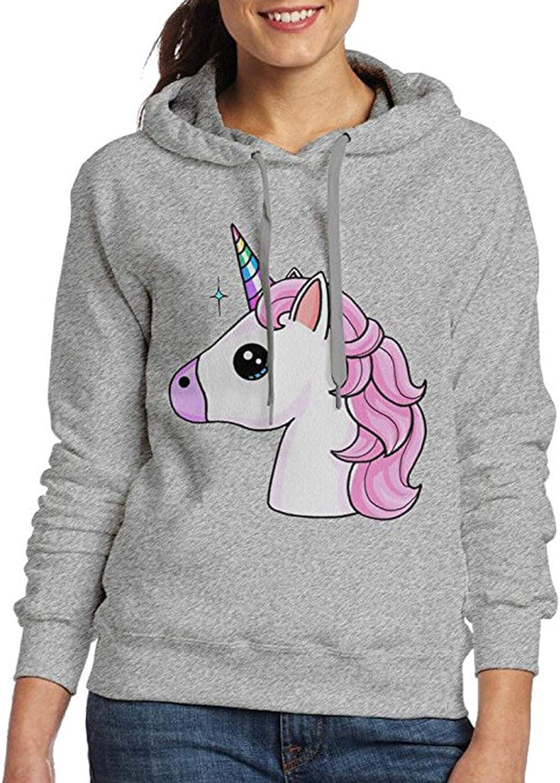 LELE Unicorn Head Unisex Boy Girl Youth Women Men Adult Pullover Hooded Pocket Hoodie Sweatshirt