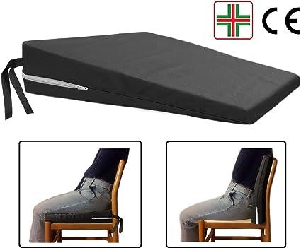 Cuscino Per Seduta Corretta.Comodissimo Nero Cuscino A Cuneo Ortopedico Cuneiforme Per Una