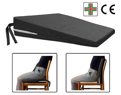Cuscino Per Postura Corretta.Comodissimo Nero Cuscino A Cuneo Ortopedico Cuneiforme Per Una