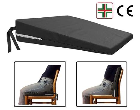 Sedie Da Ufficio Per Postura Corretta.Comodissimo Nero Cuscino A Cuneo Ortopedico Cuneiforme Per Una Corretta Postura Supporto Triangolo Rialzo Seduta Sedia Da Ufficio Sedile Auto