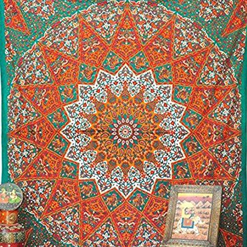 Square tapestry, multi-purpose towel beach blanket, yoga mat picnic mat, tablecloth, shawl, curtains, wall hanging mandala round elephant tapestry(58