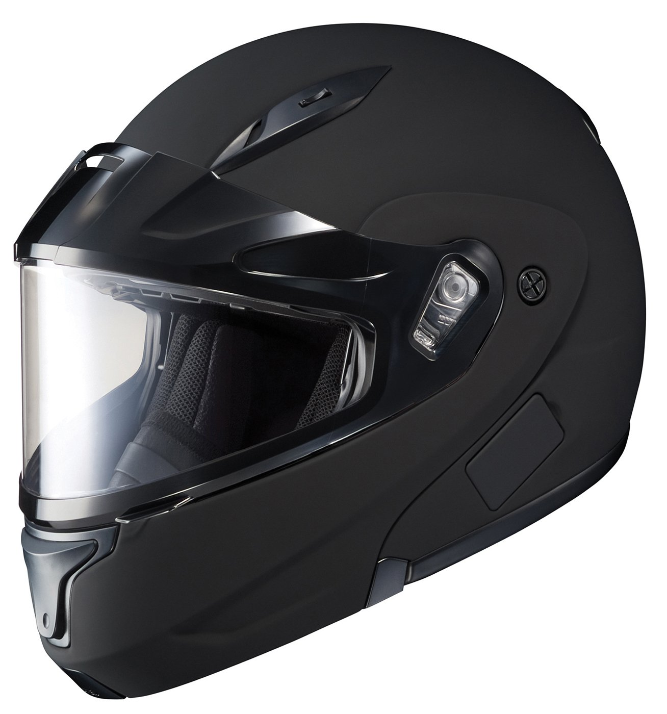 HJC CL-MAX2BTSN Modular Bluetooth Snow Helmet Framed Dual Lens Shield (Matte Black, X-Large) by HJC Helmets