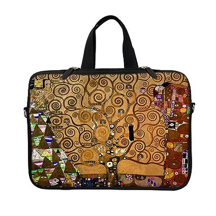 a09b68f195fe Meffort Inc 13 13.3 Inch Neoprene Laptop / Ultrabook / Chromebook Sleeve  Carrying Bag with Eyelet (D-ring) & Hidden Handle - Klimt Tree of Life