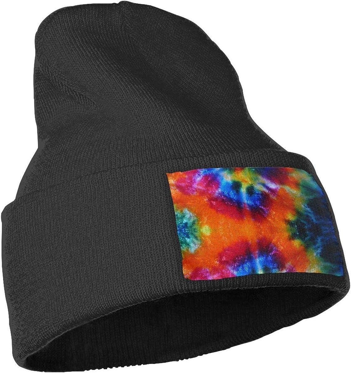 Fashion Art Design Tie-dye Cuffed Plain Baggy Winter Skull Knit Hat Cap Slouchy Beanie Hat for Men /& Women