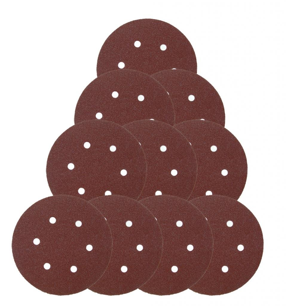 Ridgid R2611 Random Orbit Sander (10 Pack) Replacement 6'' 6 Hole Sanding Disk # 901058001-10pk