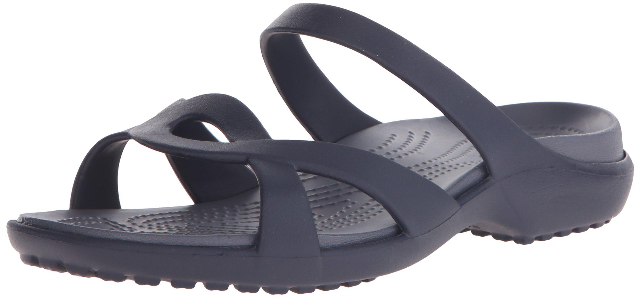 Crocs Women's Meleen Twist Sandal, Navy/Storm, 8 M US