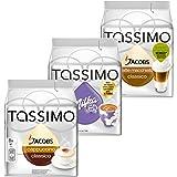 Tassimo Cream Collection, 3 Sorten, Kaffee, Kakao, Milchkaffee, Kapseln, 40 T-Discs
