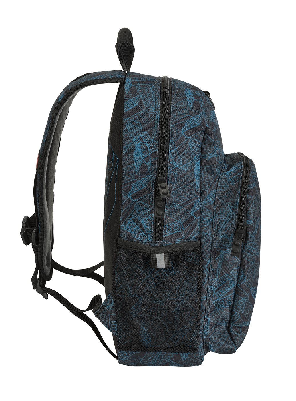 LEGO Kids Blue Print Heritage Classic Backpack, Black One Size