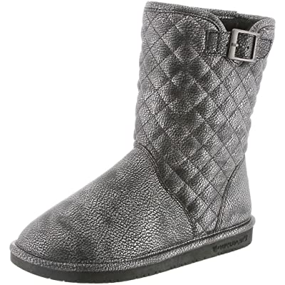 BearPaw Womens Leigh Anne Boot Black/Silver Size 11 | Mid-Calf