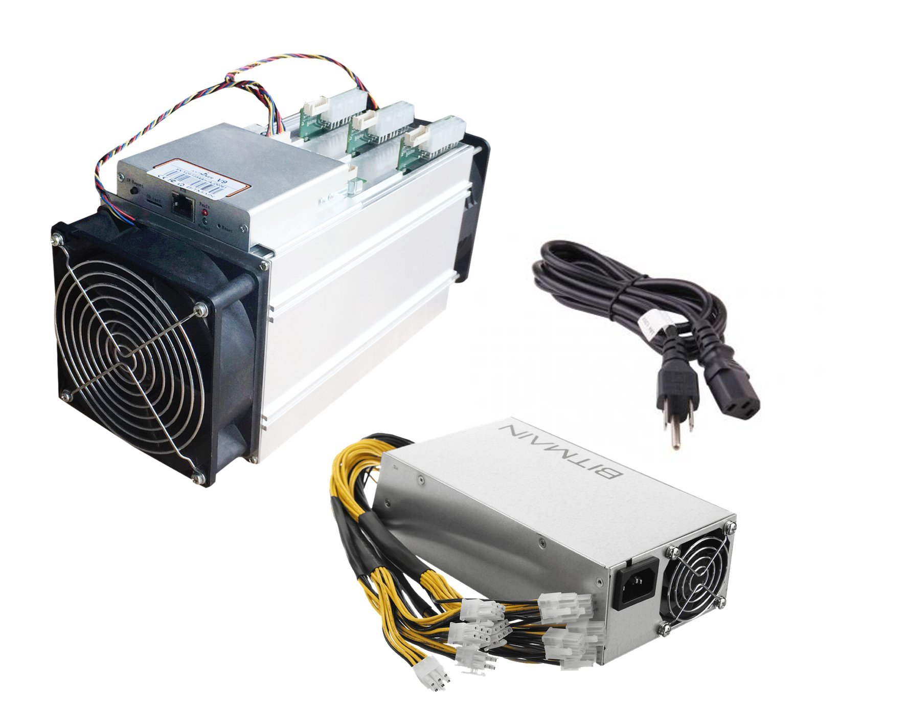AntMiner V9 ~4TH/s @ 0.253W/GH Bitcoin / Bitcoin Cash ASIC Miner with PSU