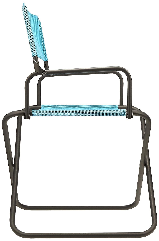 Lafuma Großer, kompakter Klappstuhl Klappstuhl Klappstuhl für unterwegs, Mit Armlehne, FGX XL, Batyline, hellblau 64a755