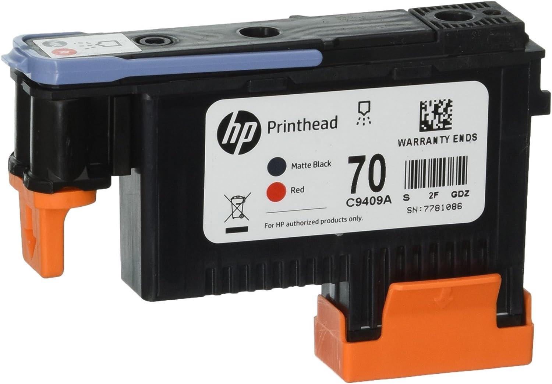 HP Cabezal de impresión Rojo y Negro Mate HP 70 70 Printheads ...