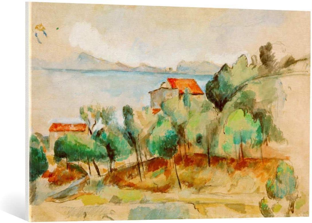 Kunst für Alle Cuadro en Lienzo: Paul Cézanne Die Bucht Von Estaque - Impresión artística, Lienzo en Bastidor, 95x60 cm