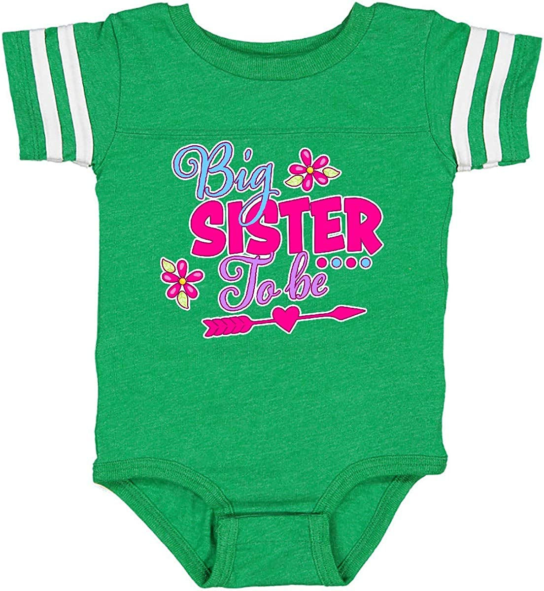 inktastic Big Sister to Be with Flowers and Arrow Infant Creeper