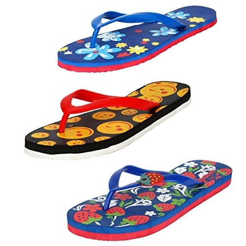 4bf565734dcc15 Earton Women Combo Pack of 3 Flip-Flop  Buy Online at Low Prices in India -  Amazon.in