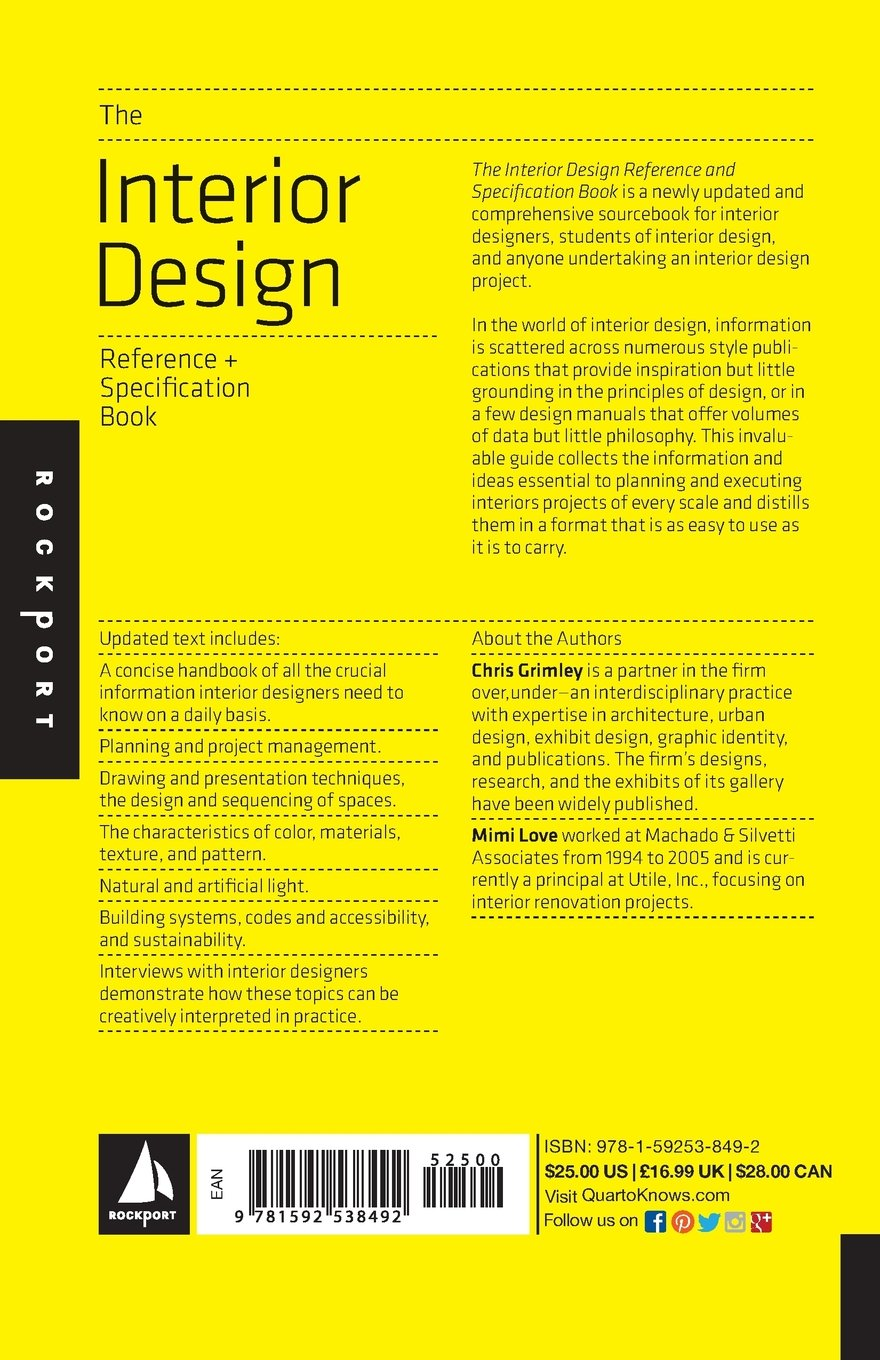 buy the interior design reference specification book everything