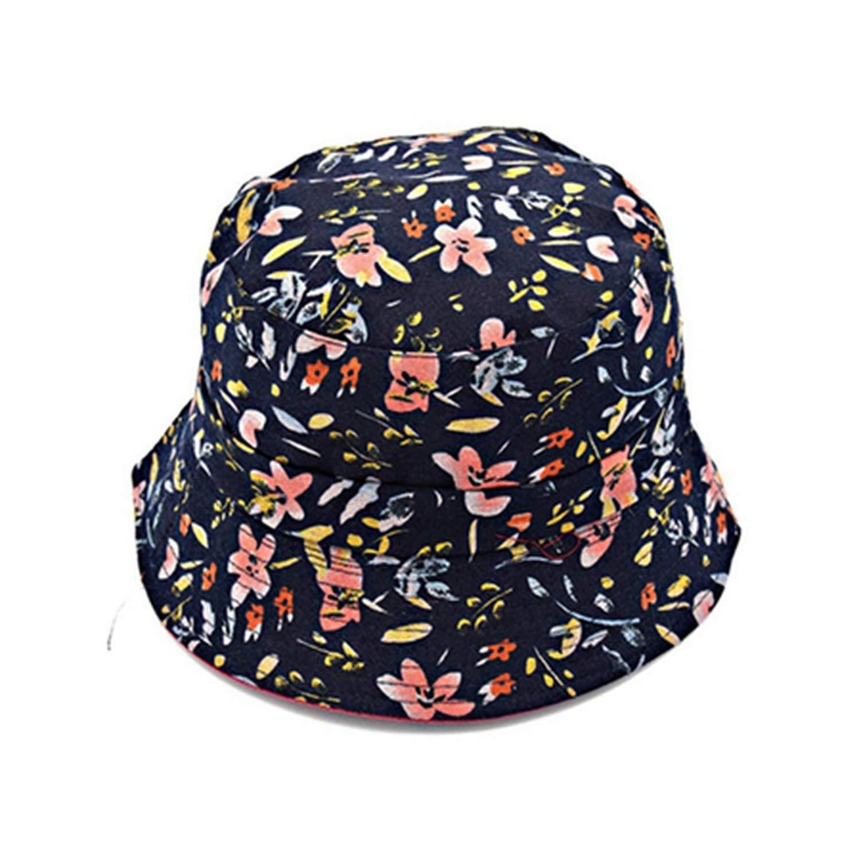 f0da2418eba54 Fashion Summer Beach Cap Flower Canvas Fisherman Hats Women Fisherman  Panama Cap Cotton Bucket Sun Hat at Amazon Women s Clothing store