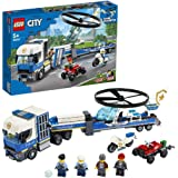 LEGO City Police 60244 Police Helicopter Transport Building Kit (317 Pieces)
