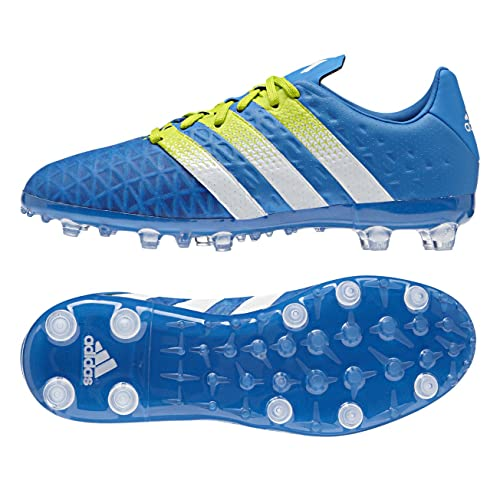 79099f18 adidas Soccer Cleats Size 3.5 - Ace 16.1 FG/AG Junior, Blue/White