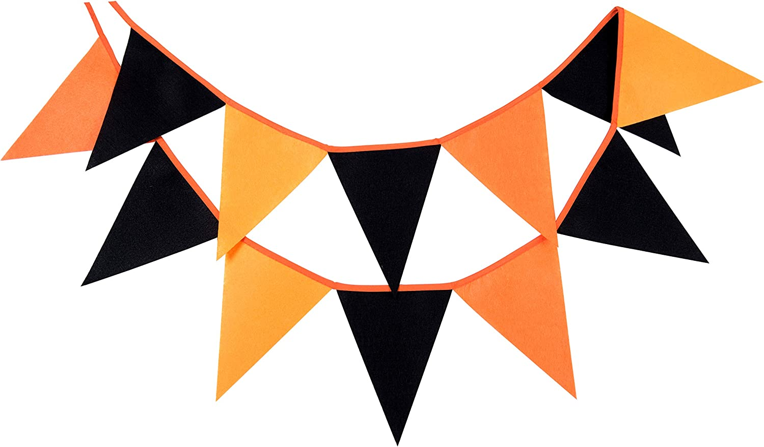LOVENJOY Felt Black and Orange Banner Graduation Party Decoration