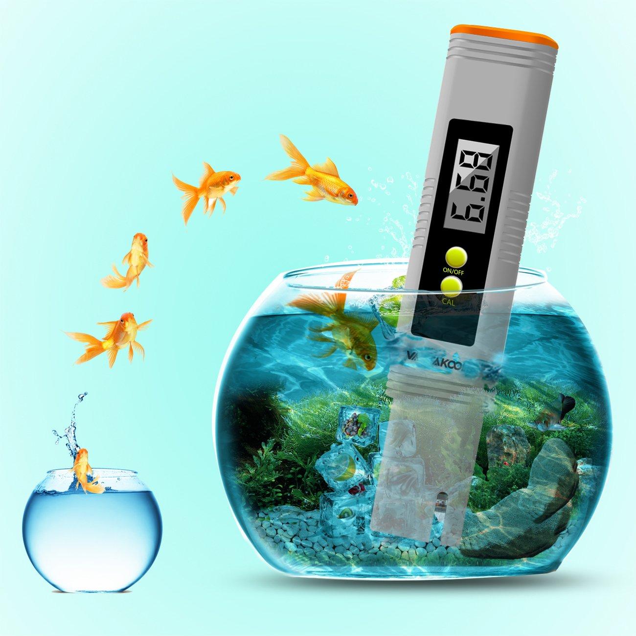 VANTAKOOL Digital PH Meter, 0.01 PH High Accuracy Pocket Size PH Meter/PH Tester with 0-14.0 Measuring Range, Water Quality Tester for Household Drinking Water, Swimming Pools, Aquariums (Orange) by VantaKool (Image #2)