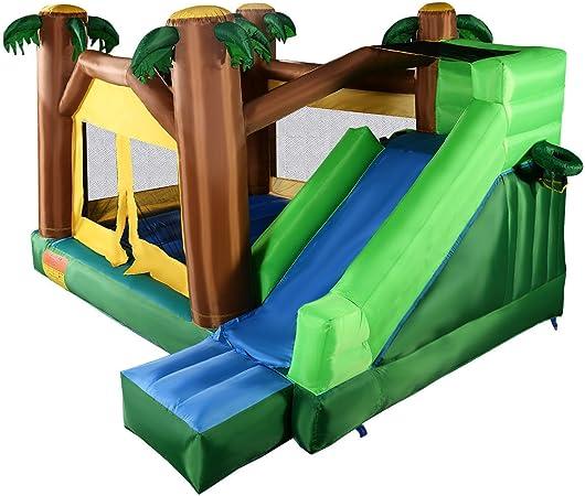 Amazon.com: giantex Jungle Bounce Casa Jumper Bouncy Jump ...