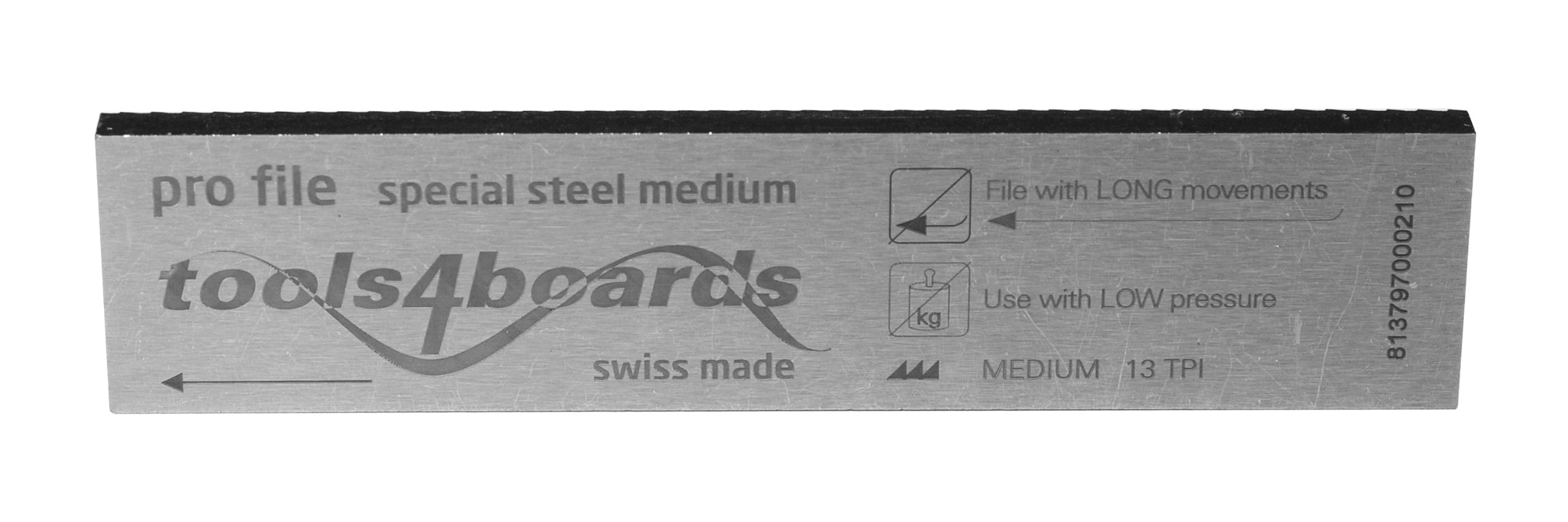 Tools4Boards Pro File Medium Cut Special Steel Race Ski and Snowboard File (4-Inch/100mm) by Tools4Boards