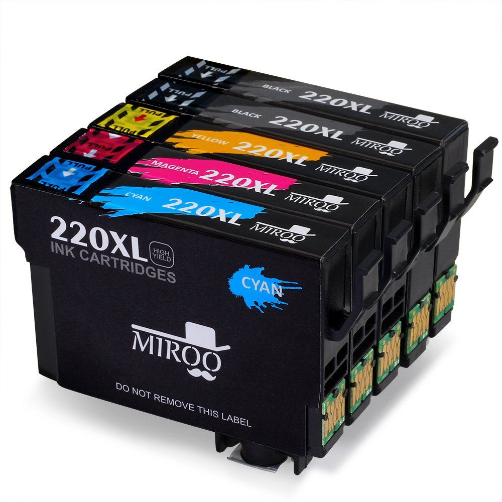 MIROO 1Set+1BK Replacement For Epson 220 Ink Cartridge