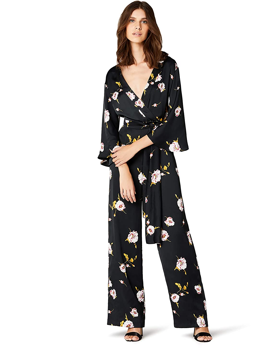TALLA 38 (Talla del fabricante: Small). Marca Amazon - TRUTH & FABLE Mono Largo Estilo Kimono Mujer