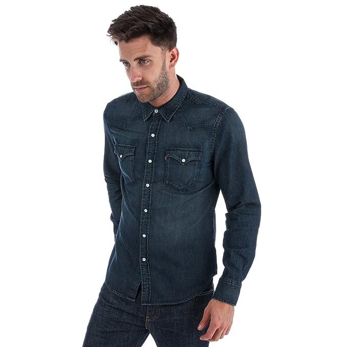 aad571eaaf Levi s Mens Mens Classic Western Denim Shirt in Denim - L  Levis ...