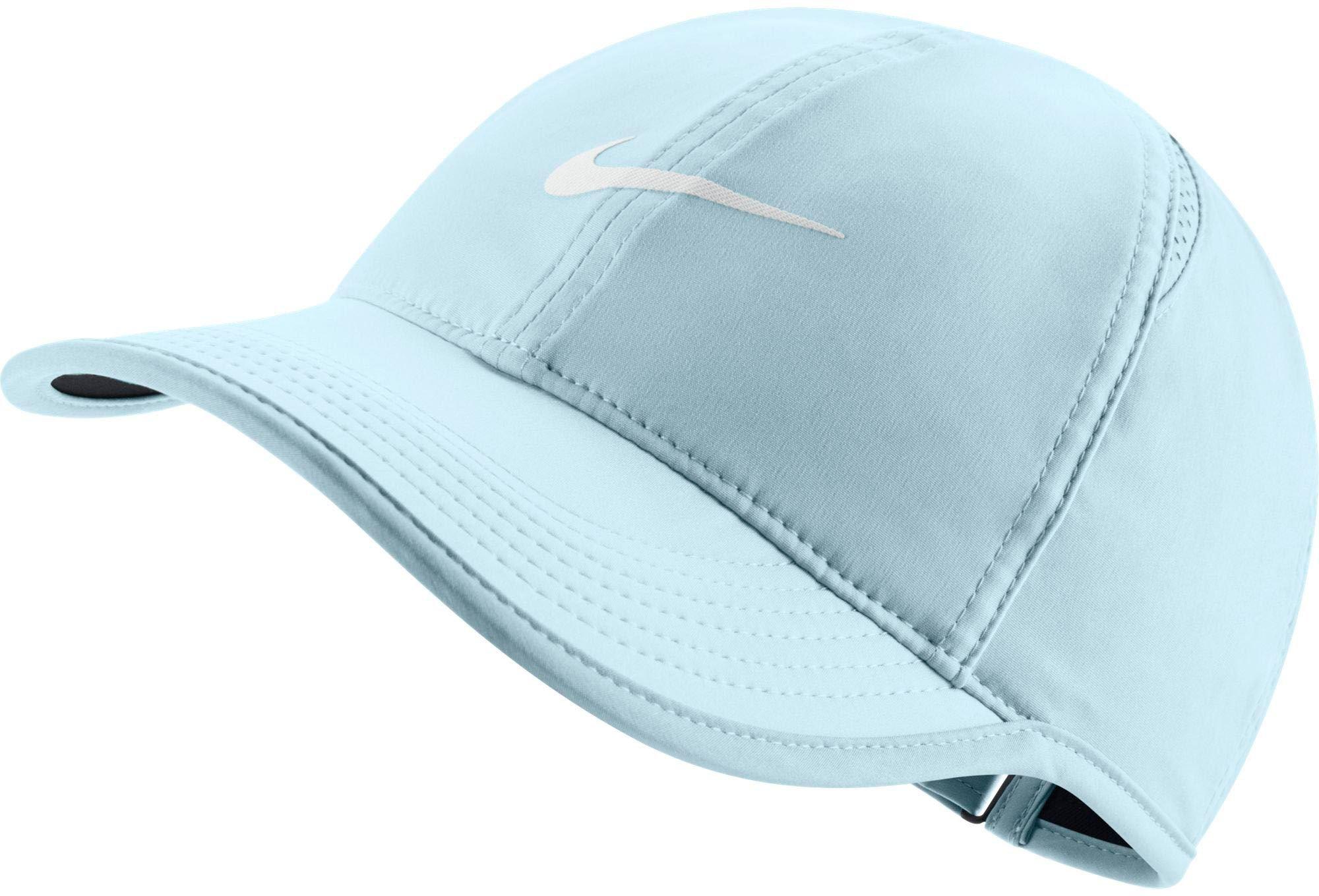 NIKE Women's Feather Light Adjustable Hat (Glacier Blue, OneSize) by Nike (Image #1)