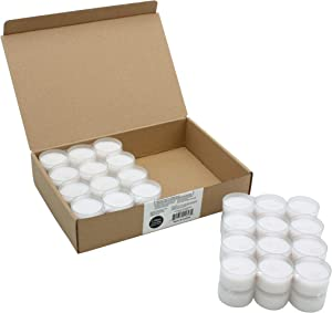 Stonebriar Unscented Long Clear Cup Tea Light Candles 6 to 7 Hour Extended Burn Time, 48 Pack, 48 Count