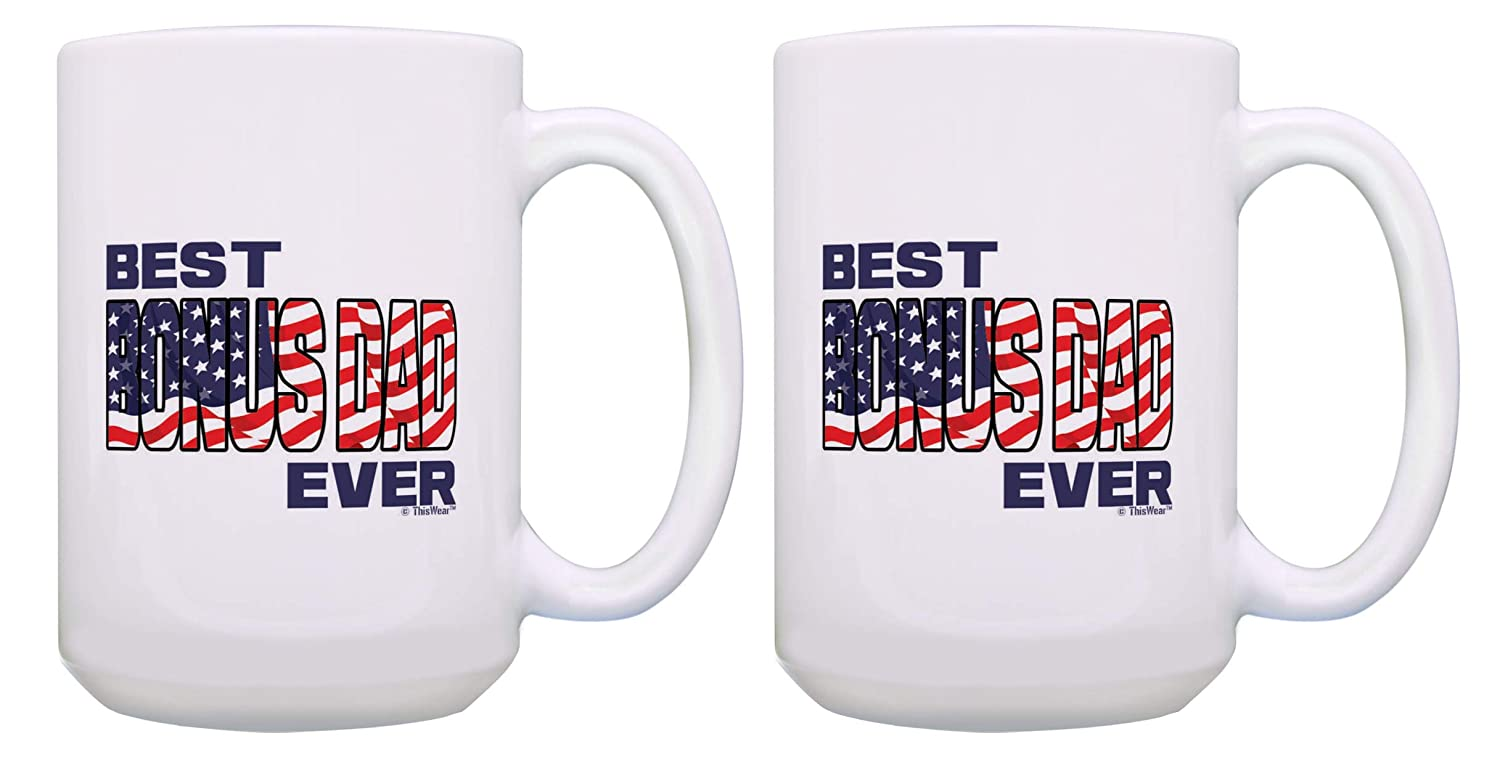 Amazon Stepdad Birthday Gifts Best Bonus Dad Ever Fathers Day Mug Veteran 15 Oz Coffee Tea Cup USA Kitchen Dining