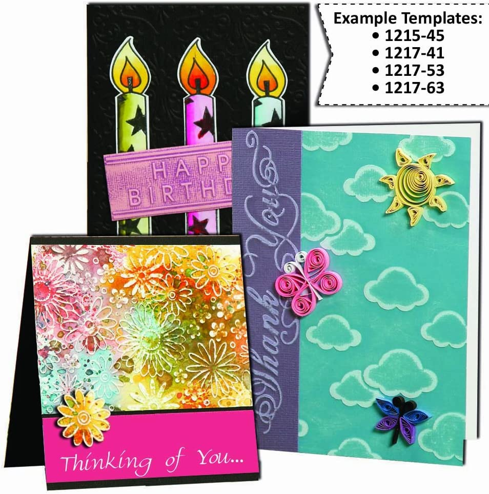Darice Doily Background Embossing Folder 5-Inch by 7-Inch