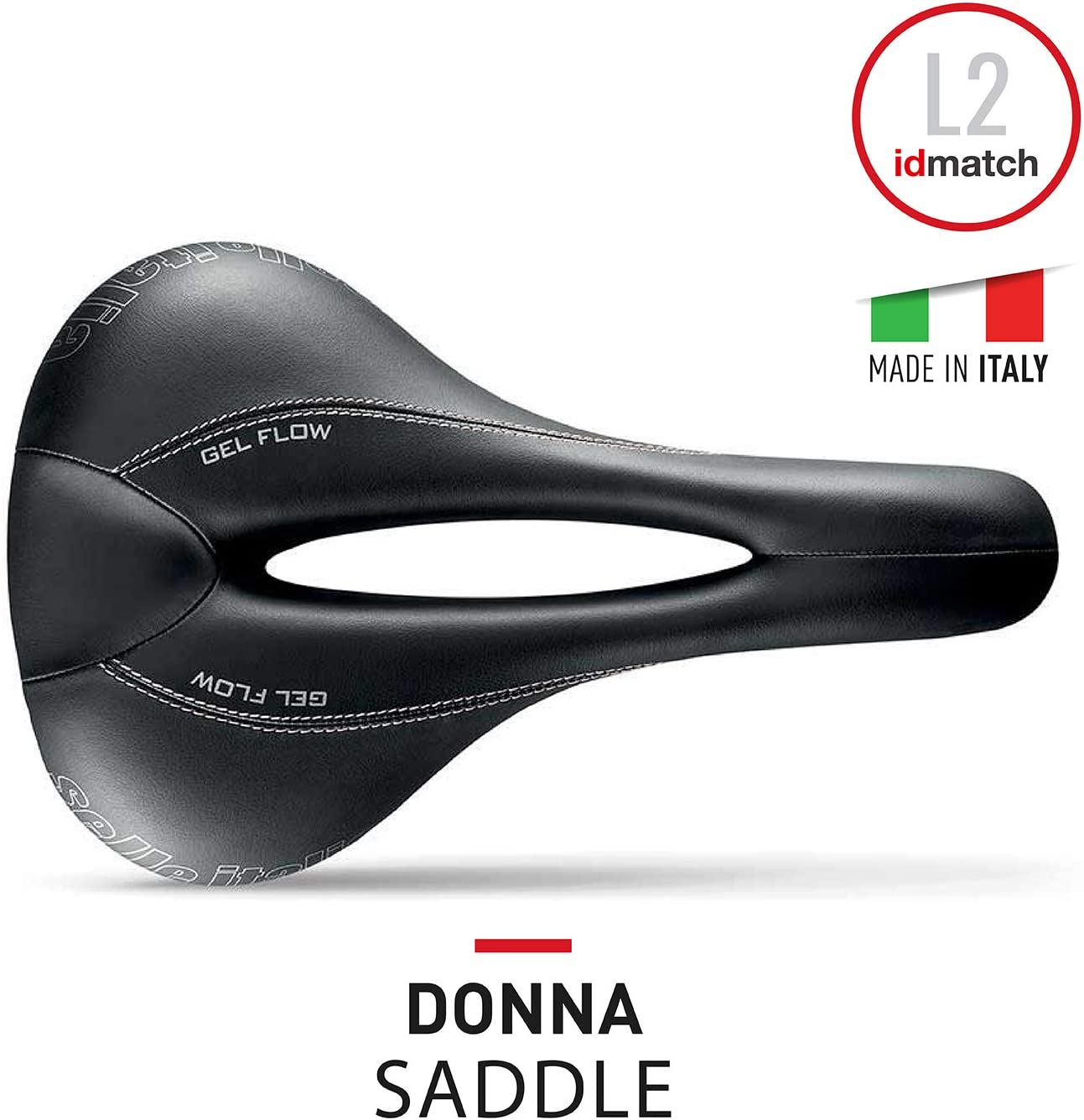 Comfort Gel Sill/ìn Road Gran Turismo Duro-tek Sill/ìn Bicicleta de Carretera Donna Amortiguador Rail FeC Alloy /Ø7 Selle Italia