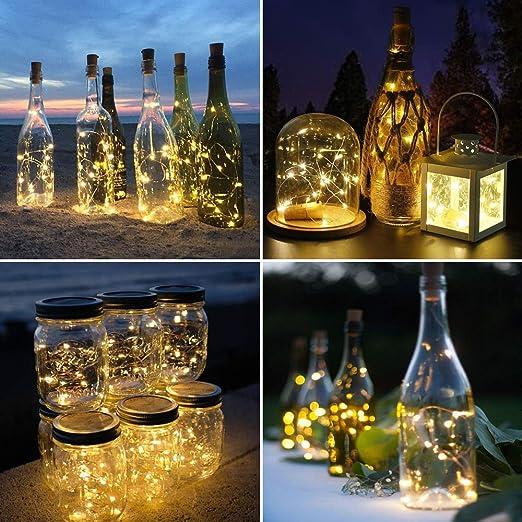 Technoline Bottle Light t9100 4er Set Bottles Light Fairy Lights Sky