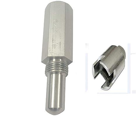 SPERTEK Clutch Removal Tool & Piston Stop 14mm for Husqvarna 362, 365, 371,  372, 570, 575, 576