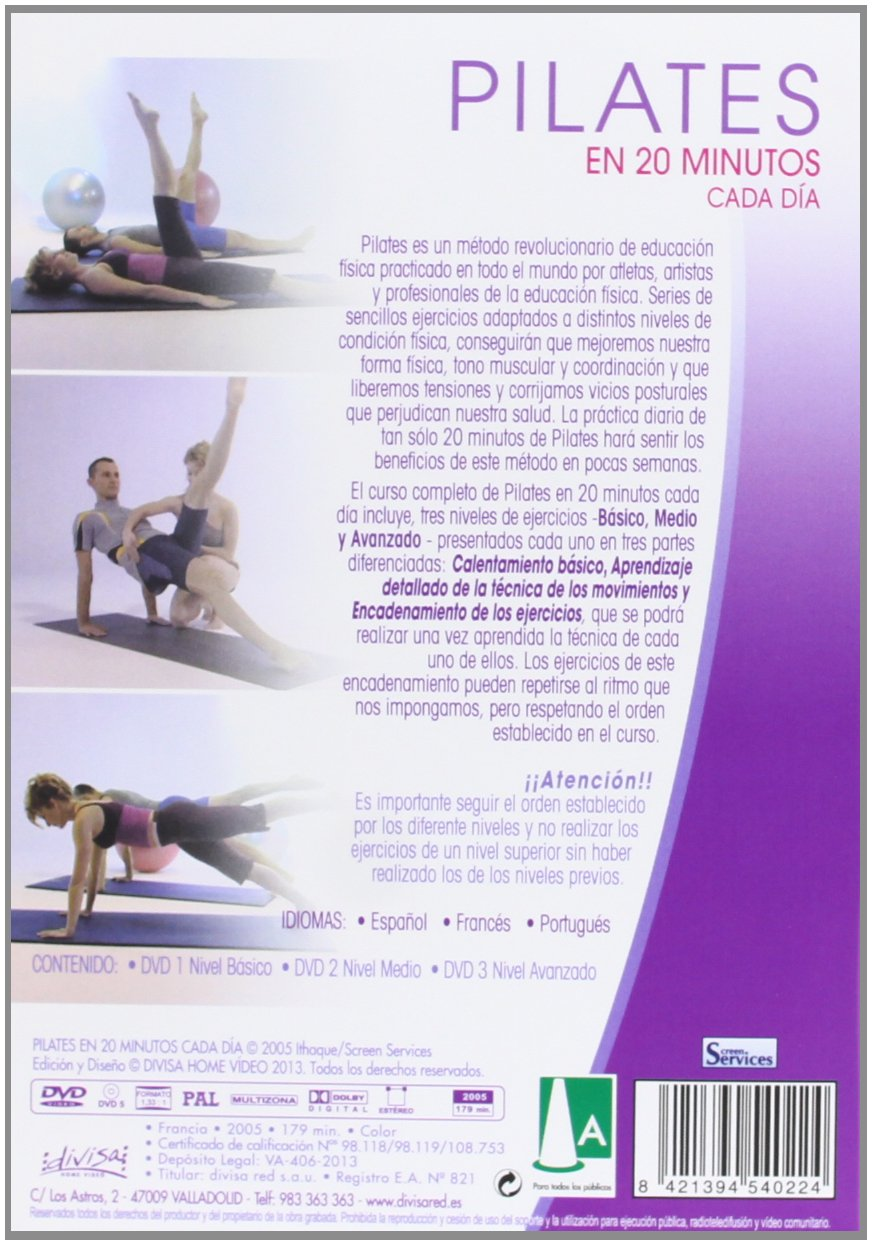 Amazon.com: Pilates: 20 minutos cada día - Audio: English ...