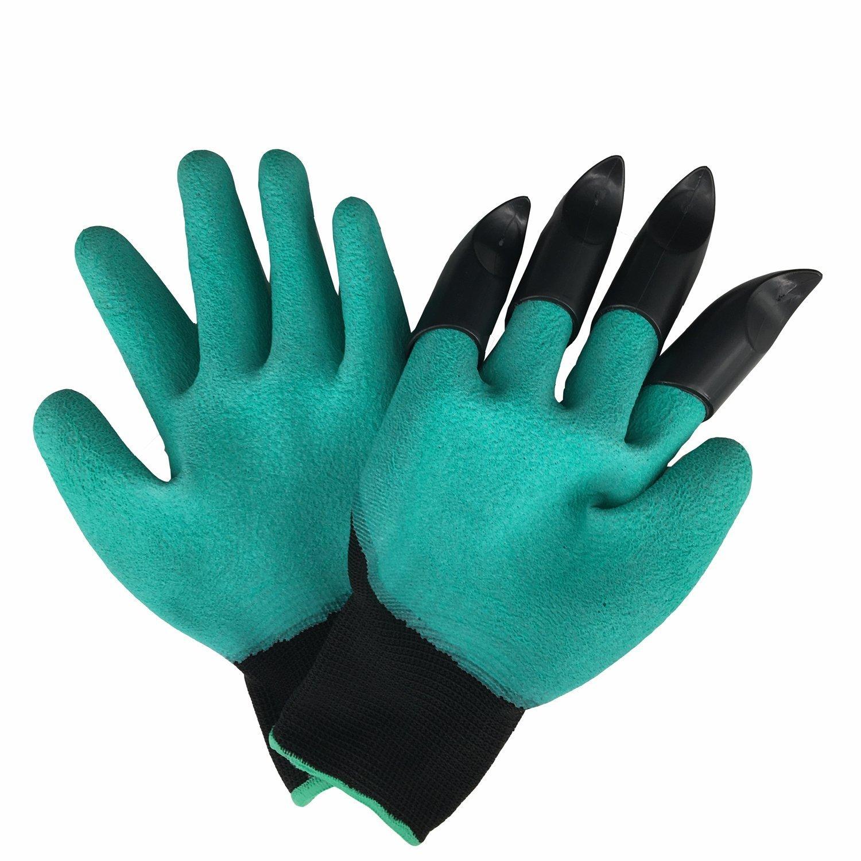 Meanch Garden Genie Gloves with ABS Plastic Fingertips Uniex Claws
