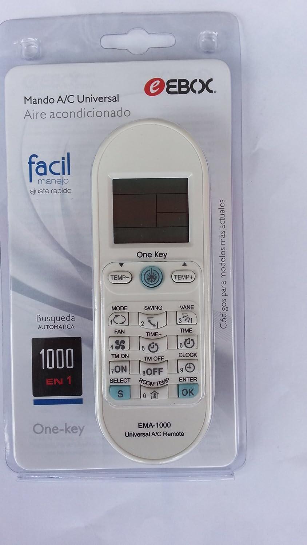 EBOX Ema 2000 Mando a distancia universal para aire acondicionado 2000 codigos