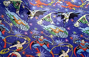 justice league gift wrap 40 sq ft Holiday Christmas wrapping paper