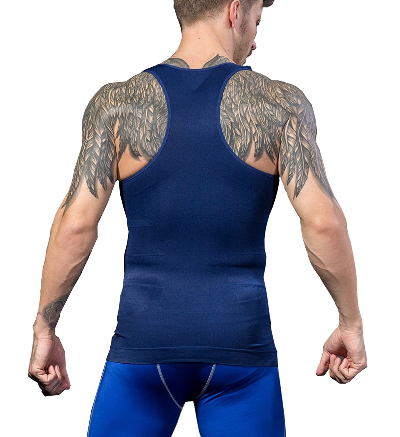 e752185ebcb NEW DESIGN- Y-BACK Design Body Shaper Compression Vest Shirt.Which is Back  cross design