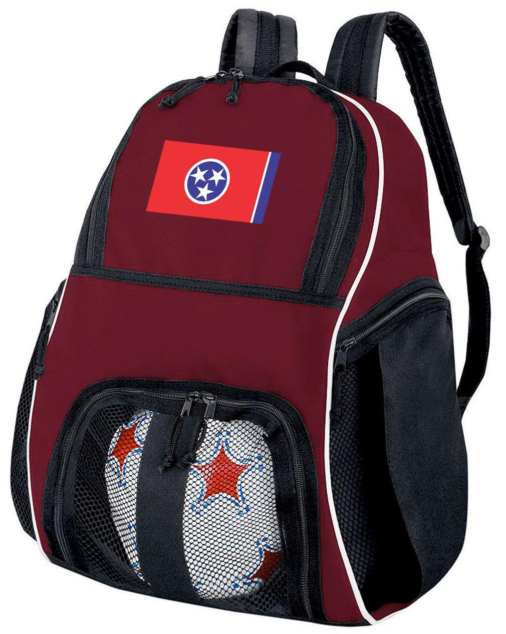 テネシー州サッカーバックパックまたはバレーボールバッグマルーン B07CYM16B7