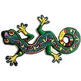 Gecko Pièce ' 9.4 x 6 cm ' - Écusson brodé Ecussons Imprimés Thermocollants Broderie Sur Vetement Ecusson Catch The Patch