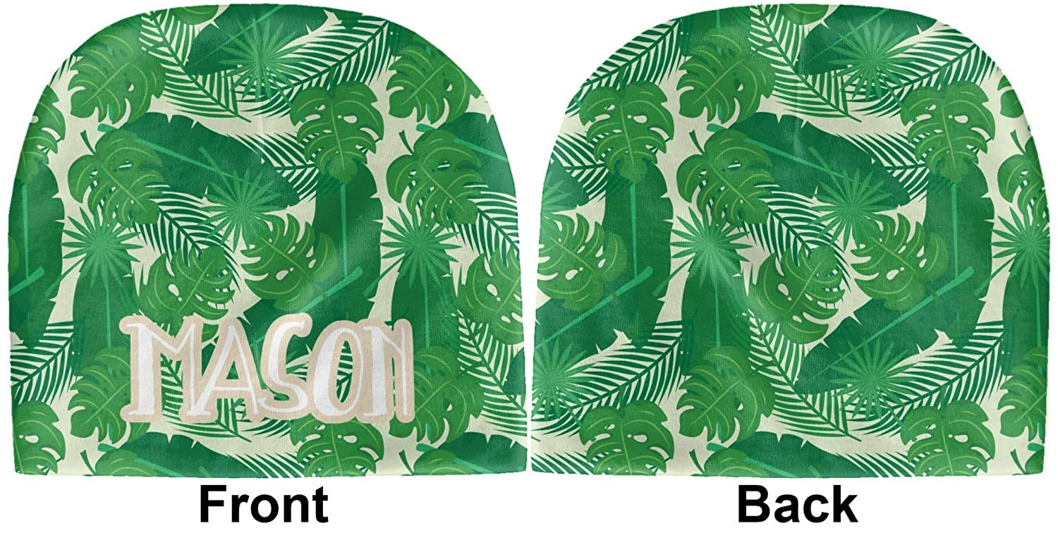 Beanie Green Personalized YouCustomizeIt Tropical Leaves 2 Baby Hat