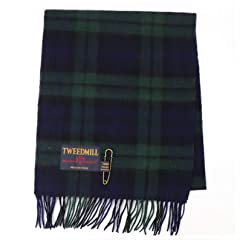 Tweedmill Lambswool Scarf: Black Watch