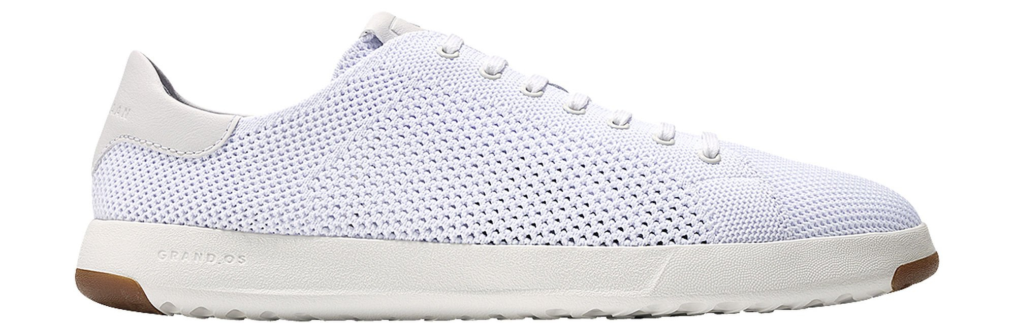Cole Haan Women's Grandpro Tennis Sneaker with Stitchlite 6 Optic White Knit