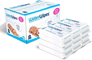 6. WaterWipes Baby Wipes, 2 Packs, 60 Count